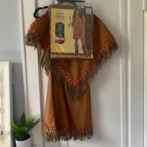 native princess costume adult L USA indian costume